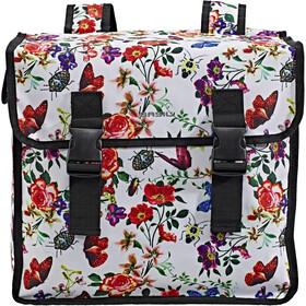 Basil Mara XL Double Pannier Bag 35l, bont/wit